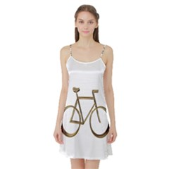 Elegant Gold Look Bicycle Cycling  Satin Night Slip by yoursparklingshop