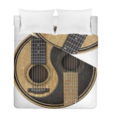Old And Worn Acoustic Guitars Yin Yang Duvet Cover Double Side (full/ Double Size) by JeffBartels