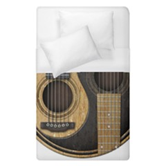 Old And Worn Acoustic Guitars Yin Yang Duvet Cover (single Size) by JeffBartels