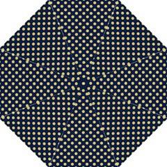 Navy/gold Polka Dots Hook Handle Umbrellas (large) by Colorfulart23