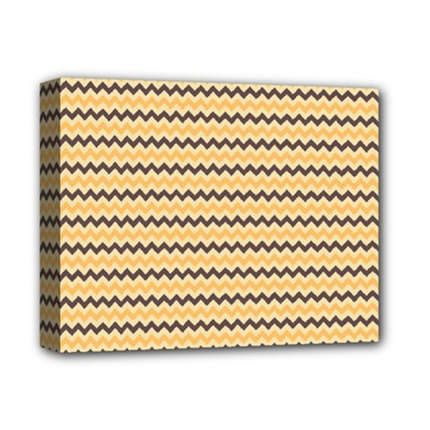 Colored Zig Zag Deluxe Canvas 14  X 11  by Colorfulart23