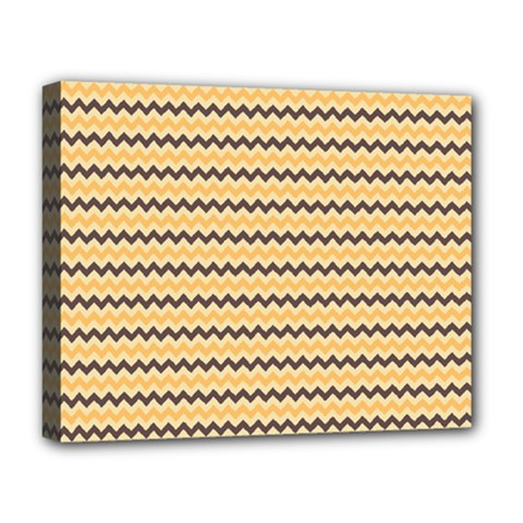 Colored Zig Zag Deluxe Canvas 20  X 16   by Colorfulart23