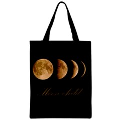 Moon Child Zipper Classic Tote Bag by Valentinaart