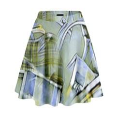 Another Modern Moment Yellow High Waist Skirt by MoreColorsinLife