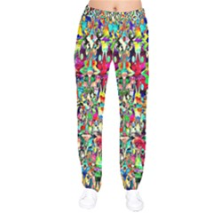 Psychedelic Background Drawstring Pants by Colorfulart23