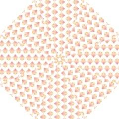 Geometric Losangle Pattern Rosy Golf Umbrellas by paulaoliveiradesign