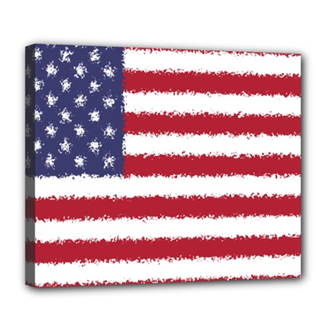 Flag Of The United States America Deluxe Canvas 24  X 20   by paulaoliveiradesign