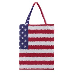 Flag Of The United States America Classic Tote Bag by paulaoliveiradesign
