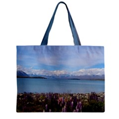 Lake Tekapo New Zealand Landscape Photography Zipper Mini Tote Bag by paulaoliveiradesign
