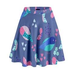 Birds And Butterflies High Waist Skirt by BangZart