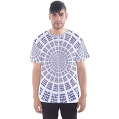 Illustration Binary Null One Figure Abstract Men s Sports Mesh Tee