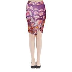 Colorful Art Traditional Batik Pattern Midi Wrap Pencil Skirt by BangZart