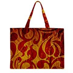 Abstract Pattern Zipper Mini Tote Bag by BangZart