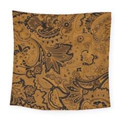 Art Traditional Batik Flower Pattern Square Tapestry (large)