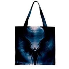 Rising Angel Fantasy Zipper Grocery Tote Bag by BangZart