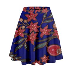Batik  Fabric High Waist Skirt by BangZart