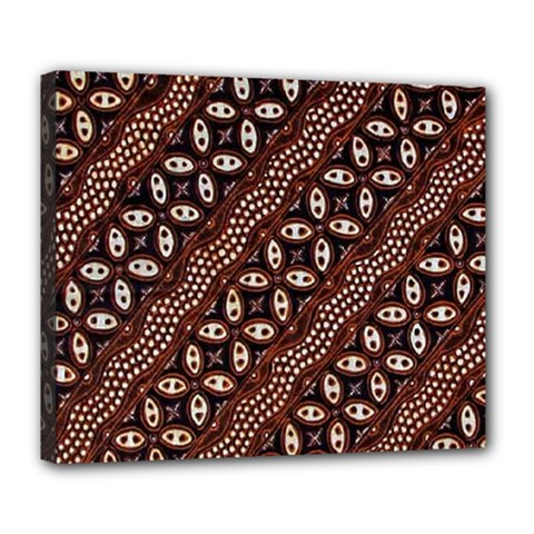 Art Traditional Batik Pattern Deluxe Canvas 24  X 20   by BangZart
