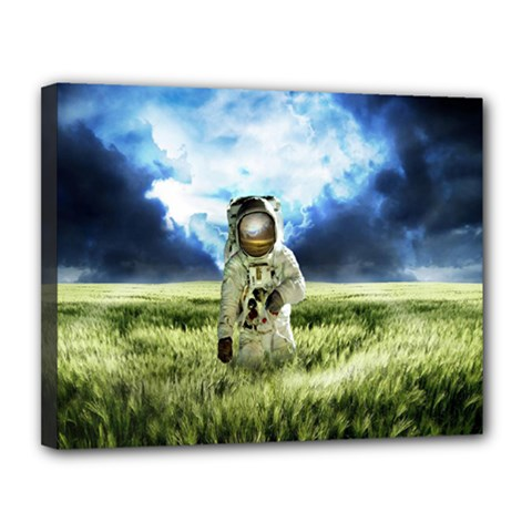 Astronaut Canvas 14  X 11  by BangZart