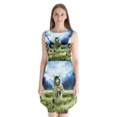 Astronaut Sleeveless Chiffon Dress