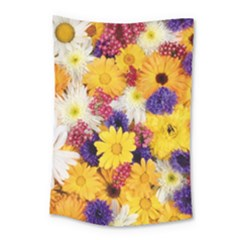 Colorful Flowers Pattern Small Tapestry by BangZart