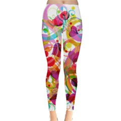 Abstract Colorful Heart Leggings  by BangZart