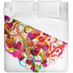 Abstract Colorful Heart Duvet Cover (king Size)