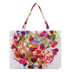 Abstract Colorful Heart Medium Tote Bag by BangZart