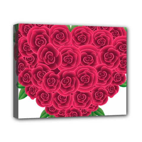 Floral Heart Canvas 10  X 8  by BangZart
