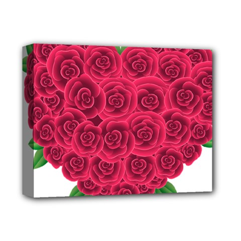 Floral Heart Deluxe Canvas 14  X 11  by BangZart