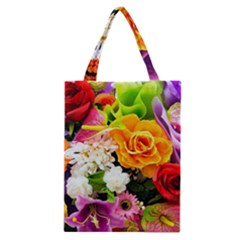 Colorful Flowers Classic Tote Bag by BangZart