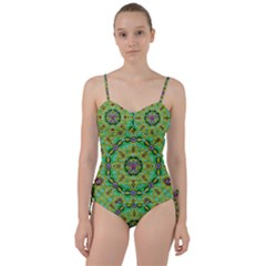 Golden Star Mandala In Fantasy Cartoon Style Sweetheart Tankini Set by pepitasart