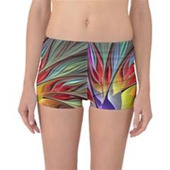 Fractal Bird Of Paradise Boyleg Bikini Bottoms by WolfepawFractals