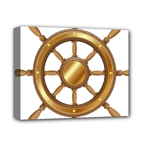 Boat Wheel Transparent Clip Art Deluxe Canvas 14  X 11  by BangZart
