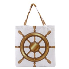 Boat Wheel Transparent Clip Art Grocery Tote Bag by BangZart