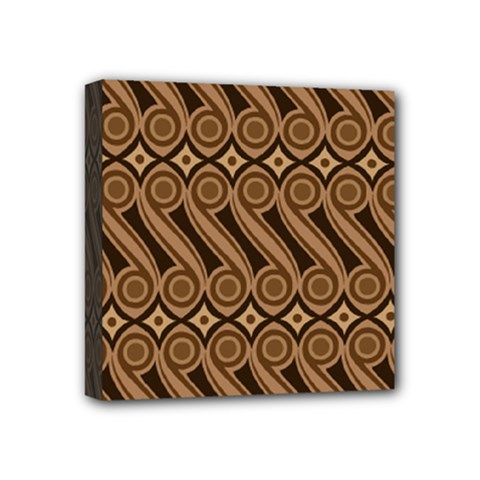 Batik The Traditional Fabric Mini Canvas 4  X 4  by BangZart