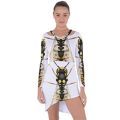 Wasp Asymmetric Cut Out Shift Dress