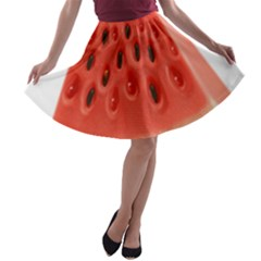 Piece Of Watermelon A Line Skater Skirt by BangZart