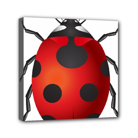 Ladybug Insects Mini Canvas 6  X 6  by BangZart