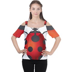 Ladybug Insects Cutout Shoulder Tee by BangZart