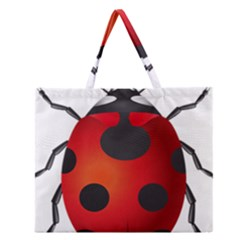 Ladybug Insects Zipper Large Tote Bag by BangZart