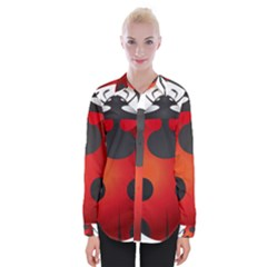 Ladybug Insects Womens Long Sleeve Shirt