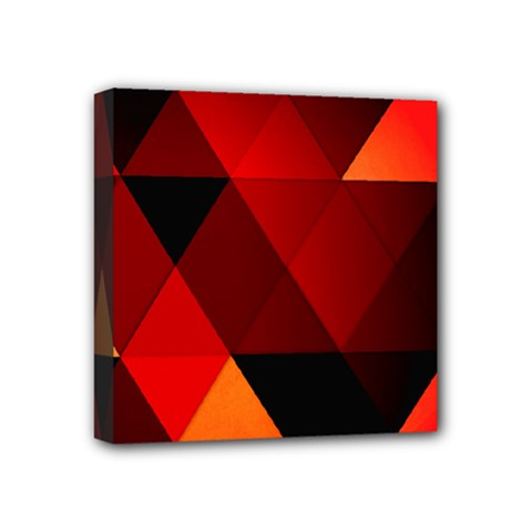 Abstract Triangle Wallpaper Mini Canvas 4  X 4  by BangZart