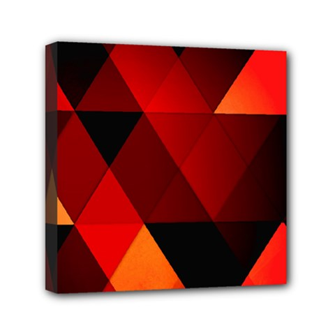 Abstract Triangle Wallpaper Mini Canvas 6  X 6  by BangZart