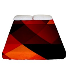 Abstract Triangle Wallpaper Fitted Sheet (king Size)
