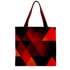 Abstract Triangle Wallpaper Zipper Grocery Tote Bag by BangZart