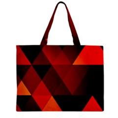 Abstract Triangle Wallpaper Zipper Mini Tote Bag by BangZart