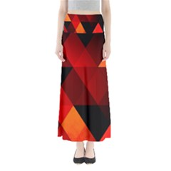 Abstract Triangle Wallpaper Full Length Maxi Skirt by BangZart
