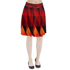 Abstract Triangle Wallpaper Pleated Skirt by BangZart