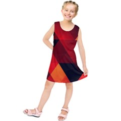 Abstract Triangle Wallpaper Kids  Tunic Dress by BangZart