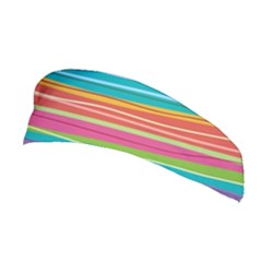 Colorful Horizontal Lines Background Stretchable Headband by TastefulDesigns